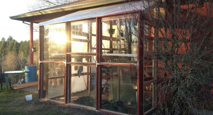 100% Recycled Glass Greenhouse!